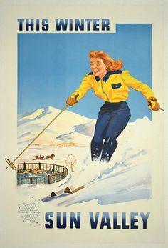 Sun Valley ski poster