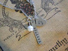 Believe Necklace by natsknapsack on Etsy, $18.00