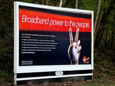 Old campaign Virgin Media, Advertising, Ads, Power To The People, Billboard, Campaign, Photo And Video, Poster Wall
