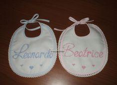 Bavaglini Leonardo e Beatrice - gemelli - Dall'album di Francesca0580: http://www.megghy.com/album/francesca0580/punto_croce/bavaglini-leonardo-e-beatrice-gemelli.html