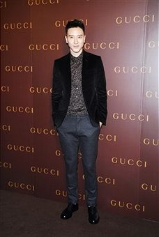 Taiwanese actor and model Sunny Wang attends GUCCI's new store opening at IAPM Mall on May 26, 2014 in Shanghai, China.