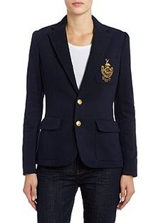 Long sleeved crested blazer