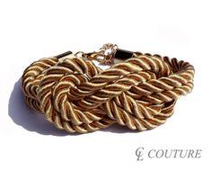 Light Gold Nautical Silk Rope Infinite Knot Bracelet Adjustable