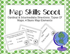Students practice their knowledge of basic map skills in this fun, fast-paced activity. Topics include cardinal and intermediate directions, the four basic map elements, and types of maps.