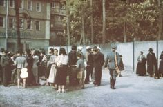 Deportation of Sinti and Roma gypsies, 22nd May 1940 (photo). Sinti in the courtyard of Hohenasperg prison prior to being deported to concentration camps in Poland.