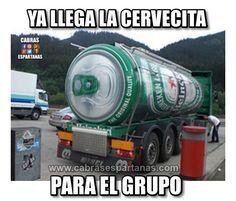 Cartel de humor Camión de cerveza ya está llegando ...