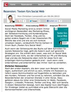 Rezension von @Christian Lanzerat. Ganzer Text: http://blog.chip.de/itrezensionen/rezension-texten-furs-social-web-20130406/comment-page-1/#comment-6946