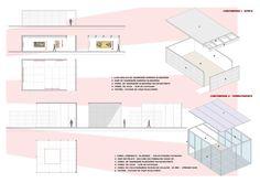 Kochuu - espacio expositivo - detalles Diagram, Floor Plans, Space, Architecture, Floor Plan Drawing, House Floor Plans