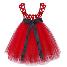 iEFiEL Girls Red Polka Dots Tutu Princess Bridesmaid Wedding Birthday Party…