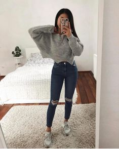 37 The best casual outfits for teenagers - Out The best casual outfits for teenagers - Outfits - School is furnishing ideas for Teen Fashion is furnishing Cute Comfy Outfits, Cute Fall Outfits, Stylish Outfits, Cute Outfit Ideas For School, Cute School Outfits, Teenage Outfits For School, Cute Simple Outfits, Outfits Spring, College Outfits