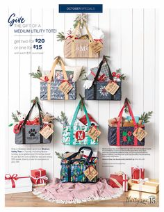 Thirty-One Medium Utility Tote available October Get it while it's hot!