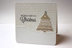 Merry Little Christmas Card by Heather Nichols for Papertrey Ink (October 2013)