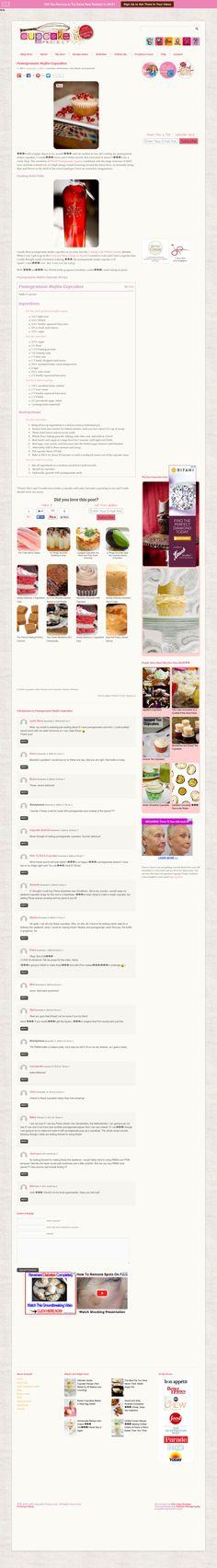 CupcakeProject.com/***Pomegranate Mojito Cupcakes
