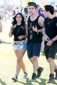 Ariel Winter Photos Photos - Celebrities at Day 3 of first weekend of The Coachella Valley Music and Arts Festival in Coachella, California on April 11, 2015.<br /> <br /> Pictured: Ariel Winter, Laurent Claude Gaudette - Coachella Music Festival Day 3