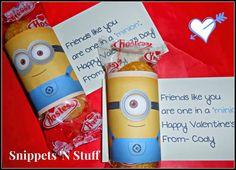 Minion Twinkie Valentines