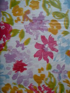 52X70 BEAUTIFUL FLORAL Vinyl Flannel Backed Multi Color