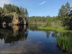 Lago no Parque Nacional de Oulanka no Norte da Finlândia