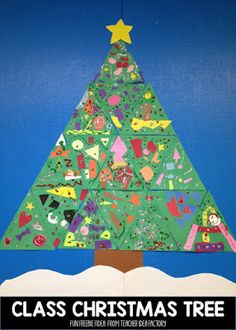 Create this free class Christmas tree in your room for the month of December!!