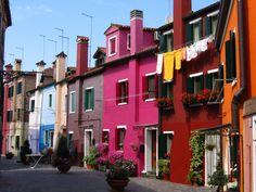 Burano, Venice, Italy. I would love to go here!