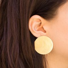 Annie Costello Brown Disc Earrings at General Store