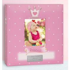 Baby Gift Idea - Personalised Baby Girl Photo Album - Princess Design - Lovely Present Idea for Newborn or Baby Shower Unique Baby Gifts, New Baby Gifts, Gifts For Boys, Baby Girl Photo Album, Baby Girl Photos, Princess Photo, Baby Princess, Self Adhesive Photo Albums, Photo Album Storage