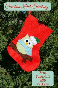 Christmas owl stocking: φτιάξε μόνος σου μια χριστουγεννιάτικη μπότα - Craftaholic