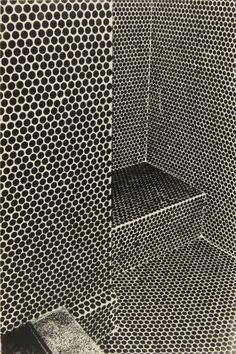 Penny round tile Handmade tiles can be colour coordinated and customized re. shape, texture, pattern, etc. by ceramic design studios Bar Design, Tile Design, House Design, Design Ideas, Bathroom Inspiration, Interior Inspiration, Bathroom Ideas, Design Bathroom, Bathroom Interior