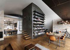 Industrial style loft apartment by Dimitri Karanikolov