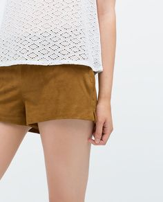 Image 5 of SUEDE SHORTS from Zara