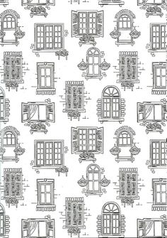 Different types of houses in black and white  Drawing Ideas