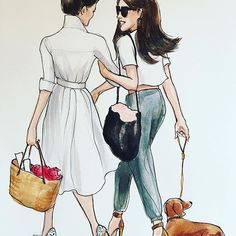 Inslee Haynes F/This is what the inside of my head looks like when I am talking to myself and totally agreeing with what I am saying 100% #brunettes #bucketbag #dachshund #insleexinslee #besties #💯