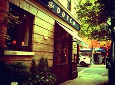 the dutch: andrew carmellini's new american restaurant in soho. cuisine: new american 131 Sullivan Street NYC, at corner Prince Street