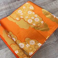 Obi Fair K102903 Beautiful Light Orange Obi Kimono Belt Fukuroobi Vintage(Etsy のHitoikiKimonoより) https://www.etsy.com/jp/listing/568080921/obi-fair-k102903-beautiful-light-orange