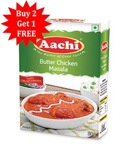 Buy Online AACHI Butter Chicken Masala  http://www.dailyneeds247.com/Buy-2-Get-1/AACHI-Butter-Chicken-Masala-id-2163103.html