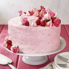Baby Shower Cakes DIY - Raspberry Pink Velvet Cake with Raspberry Cream Cheese Frosting - Easy Cake Recipes and Cupcakes to Make For Babies Showers - Ideas for Boys and Girls, Neutral, for Twins Food Cakes, Cupcake Cakes, Rose Cupcake, Cupcake Toppers, Cupcake Icing, Sweets Cake, Raspberry Cream Cheese Frosting, Raspberry Cheesecake, Raspberry Cream Cake Recipe