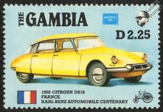 1956 Citroen DS Citroën DS19 France CAR Stamp 1986 THE Gambia | eBay
