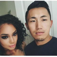 Stunning Blasian couples photography