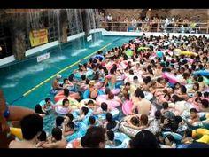 Drukste zwembad ter wereld Tokyo Summerland in Japan