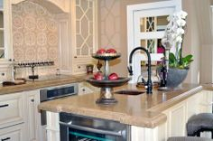 The petite kitchen in the Carriage House manages to offer house guests all the appliances they might need should they decide to dine in. Pasadena Showcase House 2014