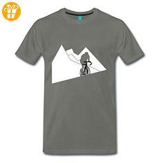 Bergetappe Radfahrer Rennrad Anstieg Männer Premium T-Shirt von Spreadshirt®, L, Asphalt - T-Shirts mit Spruch | Lustige und coole T-Shirts | Funny T-Shirts (*Partner-Link)