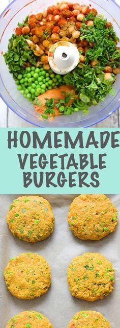 Homemade Veggie Burgers - healthy comfort food! Yum!