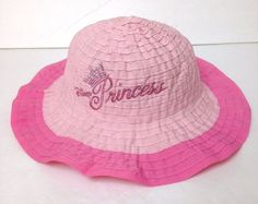 fcfae8ed632 Infant Baby Girl DISNEY PRINCESS BUCKET HAT Brimmed Sun Beach Walt World  Glitter  Disney