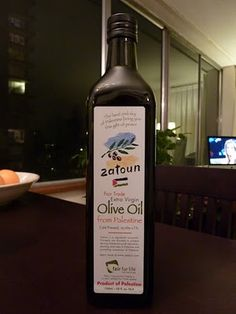 Fair Trade olive oil from Palestine