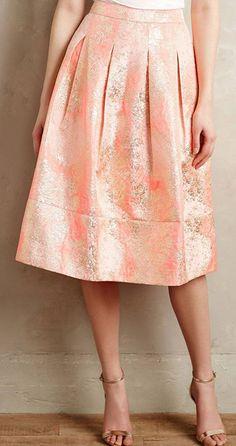 Blushing Blooms Midi Skirt