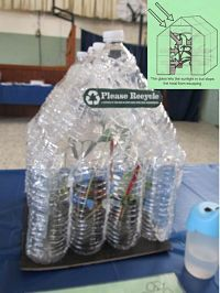 Greenhouse: Empty plastic water bottles Clear plastic wrap from a case of water bottles Cardboard from a pizza box Plant seeds Dirt Garden Seeds, Planting Seeds, Classroom Projects, Plastic Wrap, Water Bottles, Garden Projects, Empty, Repurposed, Upcycle