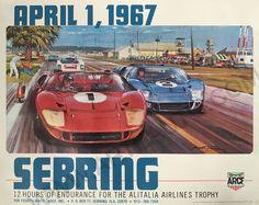 Sebring 12 Hours 1967 Original Event Poster by Michael Turner | eBay