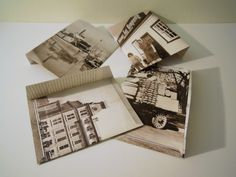 Envelopes made from vintage Canadiana photos, by Poubelle Chic.