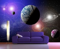 Wall mural with space