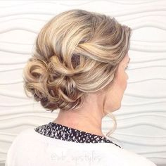 Mother of the bride hair ideas. For more hair inspiration follow @wb_upstyles on Instagram