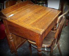Student oak desk